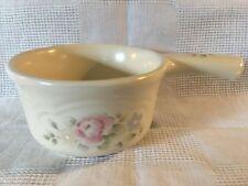 "PFALTZGRAFF tea rose pink flowers cream small 4"" handled casserole sauce dish"