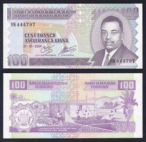 Burundi 100 francs 2004 FDS/UNC  A-06
