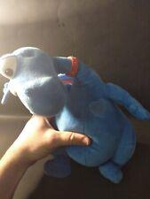 "Z1 Doc McStuffins Stuffy blue dragon TALKING 14"" Plush Doll Disney Just Play"