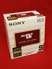 Sony DVM63 Hi Def HD 5pk Mini DV Camcorder Tapes BRAND NEW UK Hi Definition
