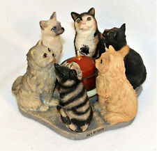 Continental Creations True Friends Assorted Cats In Circle Candle Holder 2002