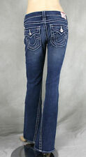 True Religion Jeans women's JOEY Big T SHORT FUSE Orange Thick Trim Size 28