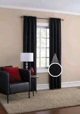 Mainstays Geometric Jacquard Window Curtain Panel Pair-Black