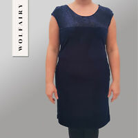 WOLFAIRY Italian Velvet Dress Coctail Bodycon Womens Plus Size 16 18 20 22