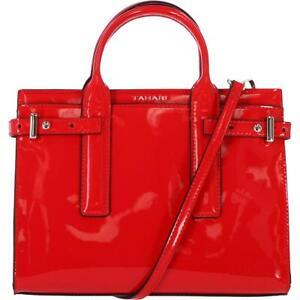 Tahari Career Women's Faux Leather Signature Convertible Small Satchel Handbag