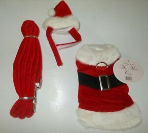 Dog Cat Christmas Santa Suit Small Pet XXS 3Pc Mia Michele Couture Doggie Design