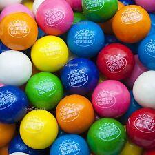 """850 1"""" DOUBLE BUBBLE GUMBALLS Candy Gum Vending ASSORTED 8Flavr dubble bulk 24mm"""