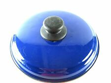 """Lid Only 8-1/8"""" ID Magefesa Provence Blue Gloss Mediterranean for Non Stick VTG"""