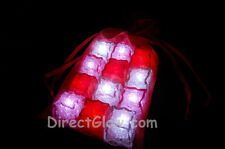 Set of 12 LiteCubes Jewel Color Tinted Light up LED Ice Cubes Love Pack Gift Bag