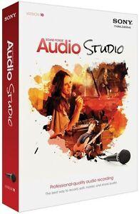SONY Sound Forge Audio Studio VERSION 10 Includes Izotope Audio Enhancer NEW