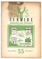 SERVIRE RIVISTA PER ROVERS NOVEMBRE-DICEMBRE 1955 SCOUT SCOUTISMO