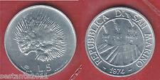 S63, SAN MARINO 5 LIRE RICCIO 1974 DA SERIE DIVISIONALE  KM 32,   FDC / UNC