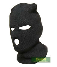BRITISH ARMY SAS STYLE COMMANDO BALACLAVA HAT ACRYLIC BLACK