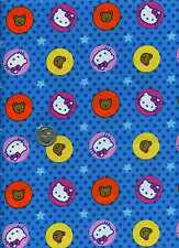 HELLO KITTY BIG TOP CIRCLES & STARS BLUE SANRIO COTTON FABRIC SOLD BY THE 1/2 YD