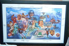 Denver Broncos Original Painting Signed by the Original Ring of Fame Players
