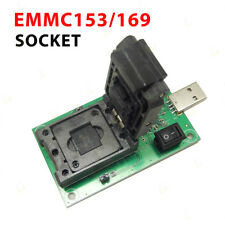 EMMC153/169 Test Socket USB Reader IC Size 11.5x13mm NAND Flash Test