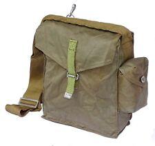 1980s Army Surplus Shoulder Bag Olive Canvas Retro Vintage Messenger Cross Body
