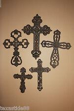 (5) RELIGIOIUS GIFT, GALLIILEO, CAST IRON,CROSS,CROSSES,DECOR,DECORATIVE CROSSES
