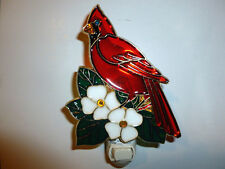 """New listing Stain Glass Style - """"Cardinal"""" Night Light"""
