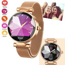 Fashion Woman Smart Watch Bluetooth Heart Rate Watch For Samsung LG Q6 Q7 Q8 HTC