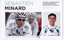 CYCLISME carte cycliste SEBASTIEN MINARD équipe AG2R prévoyance 2011