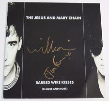 "THE JESUS AND MARY CHAIN Signed Autograph ""Barbed Wire Kisses"" Album Vinyl LP"