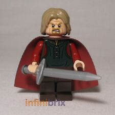 Lego Custom King Theoden with Hair + Red Cape for Lord of the Rings NEW cus106
