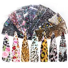 10pcs Mixed Print Transparent Leopard Transfer Adhesive Slider Nail Foil Sticker