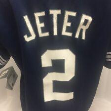 Derek Jeter Starter New York Yankees Baseball Jersey Youth L New Old Stock