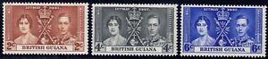 1937 British Honduras SC# 112-114 - Coronation Issue - M-H