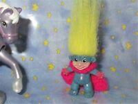 MINI SUPER TROLL OOAK Doll Custom Pencil Topper unique upface cape batman hero
