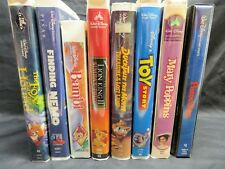 Collection Lot of 8 Classic DISNEY Children's VHS Movies - Pinocchio, Nemo etc.