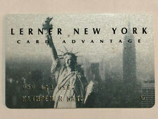 Rare Lerner New York Card Advantage Department Store Credit Card from 1990
