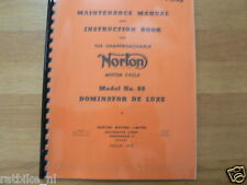 N0306 NORTON---MAINTANCE MANUAL + INSTRUCTION BOOK---NO 88 DOMINATOR DE LUXE 500