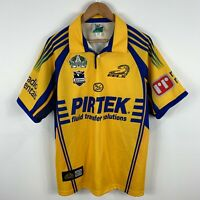 Parramatta Eels Rugby Jersey Mens Medium 2008 Short Sleeve 100th Anniversary