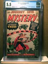 Journey Into Mystery #83 CGC 5.5 1962 1st Thor! Key Silver! Avengers! F8 291 cm