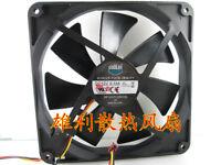 For 1pc COOLER MASTER A14025-10CB-3BN-F1 fan 12V 0.14A 3wire 140*140*25MM