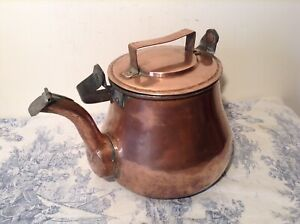 Vintage French Large Copper Kettle (3284)