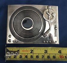 Record Player Turntable Belt Buckle Metal Brand New Unworn Unused