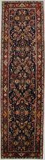 13 Ft Vintage Floral Navy Blue 3'7X13'4 Lilian Wool Runner Rug Oriental Carpet