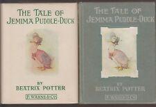 VG Vintage 1936 Edition Hardcover in DJ Tale Jemima Puddle Duck Beatrix Potter