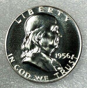 1956 SILVER PROOF Ben Franklin Half Dollar 50c