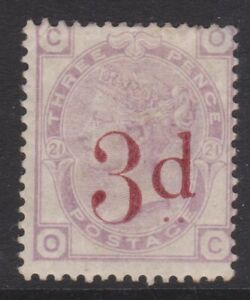 GB QV mint  Surface Printed SG159 3d on 3d lilac cat. value £650