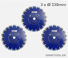 3x 230mm Cedima Beton Turbo Star Diamanttrennscheibe *UPGRADE BETON GOLD STAR*