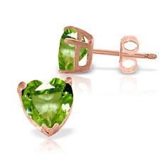 3.25 Carat 14K Solid Rose Gold Divinity Peridot Stud Earrings