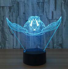 TURTLE OCEAN 3D Acrylic LED 7 Colour Night Light Touch Table Desk Lamp Gift