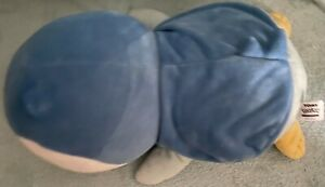 """Piplup Plush - Pokemon Trainers Choice TOMY 20"""" Large 2013 Laying Blue Penguin"""