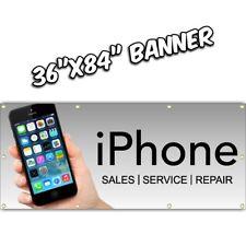 IPHONE REPAIR BANNER cell fix ipad phone ios tablet apple mac computer  36x84