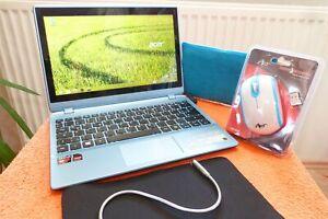 Acer V5 122 l 11 Zoll TOUCH HD l AKKU NEU I QUAD CORE ULTRABOOK I 500GB Netbook