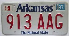 Arkansas 1997 LOW NUMBER License Plate NICE QUALITY # 913 AAG
